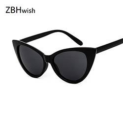... Grand Cadre lunettes de Soleil Femmes Cat Eye Lunettes de Soleil 2017  Noir Blanc lunettes de Soleil Dames lunettes de Soleil Vintage Oculos De  Sol UV400 011ae1d17b69