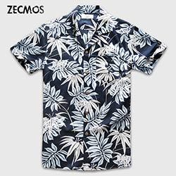 Manches Chemise Prix Courtes Hommes Hommes À Zecmos De Hawaïenne X4ppxqw